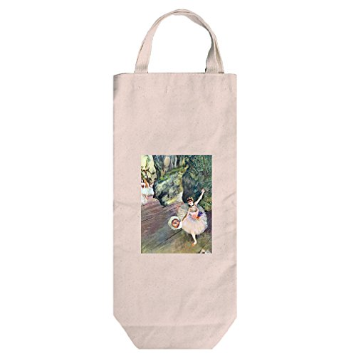 Dancer Bouquet Star Ballet (Degas) Cotton Canvas Wine Bag Tote With Handles (Ballet Bag Degas)