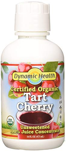 Dynamic Health Organic Tart Cherry Juice Concentrate | USDA Certified & 100% Pure | 16 Servings (Best Tart Cherry Juice)