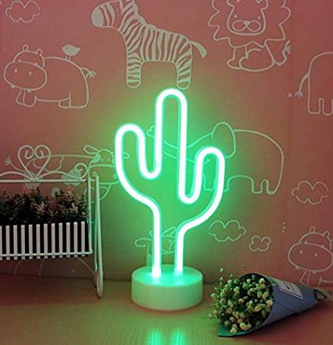 Lighted Cactus Outdoor Light Decoration
