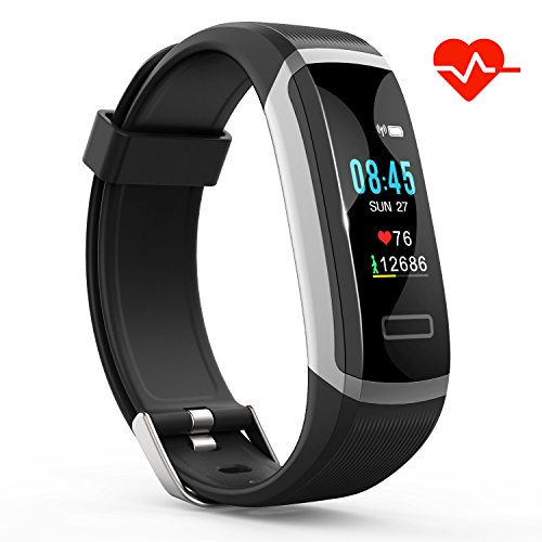 Akuti Fitness Tracker HR, Fitness Watch with Heart Rate Monitor, Activity Tracker, Sleep Monitor, Step Counter Calories Watch, IPX7 Waterproof Smart Wristband Pedometer for Kids, Women and Men by Akuti