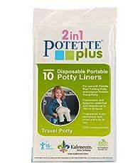 Kalencom Potette Plus 10 Piece Potty Liners, White