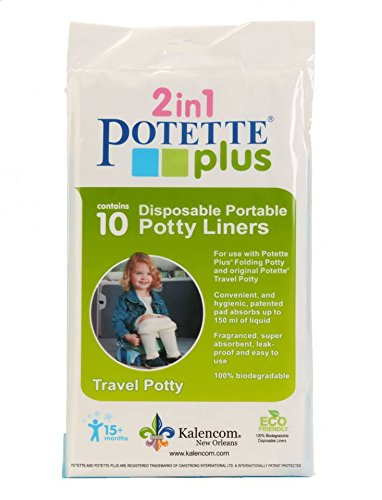 Kalencom Potette Plus 10 Piece Potty Liners, White 2732