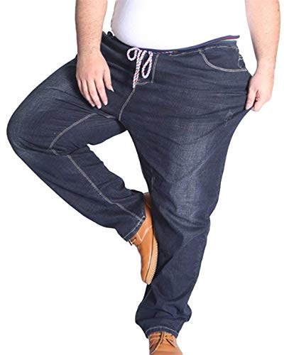 Pantaloni Comodo Pants Jeans Da Stretch E Uomo Battercake Allentati Denim Nero Lunghi Moda Slim Casual dqw1WFR