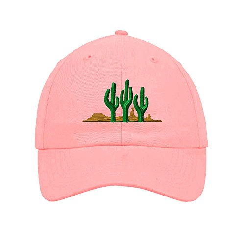 west-cactus-embroidered-soft-unstructured-hat-baseball-cap-soft-pink