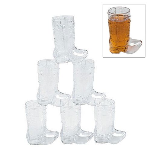 Plastic Mini Cowboy Boot Glasses (1 dozen) -