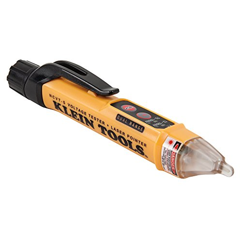 Dual-Range Non Contact Voltage Tester with Laser Pointer and Visual and Audible Alerts Klein Tools NCVT-5