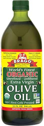 Olive Oil: Bragg Organic Extra Virgin Olive Oil