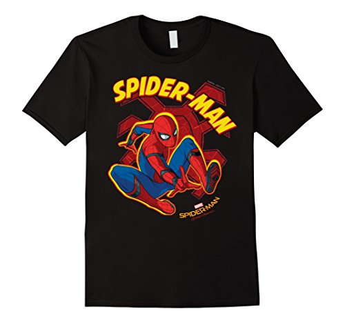Mens Marvel Spider-Man Homecoming Two-Legged Spider T-Shirt Large Black
