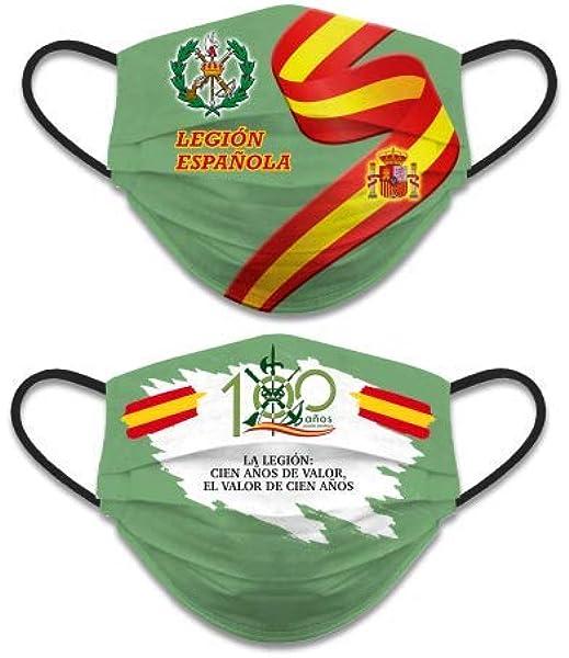 Pack 2 ud. Accesorio Facial Reversible Legión Española Nivel 3. No homologada. 2-30654: Amazon.es: Industria, empresas y ciencia