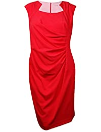 Women's Cap-Sleeve Side-Ruched Sheath Dress