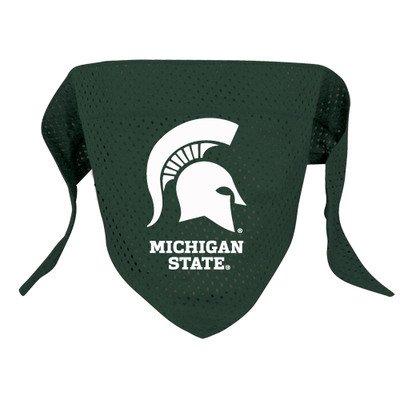 "NCAA Dog Bandana NCAA Team: Michigan State, Size: Large (21.5"" H x 9"" W x 0.2"" D)"