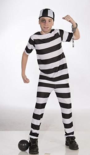 Forum Novelties Striped Convict Costume, Child Small -