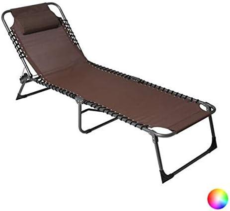 VIP HOGAR Pack 2 Tumbonas/Cama Multiposiciones Reclinables y Plegables para Jardín/Playa con Tejido para Exterior (Azul y Blanco): Amazon.es: Jardín