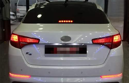 iJDMTOY Brilliant Red 40-SMD LED Bumper Reflector Lights for 11-13 Kia Optima K5, Function as Tail & Brake Lamps by iJDMTOY (Image #3)