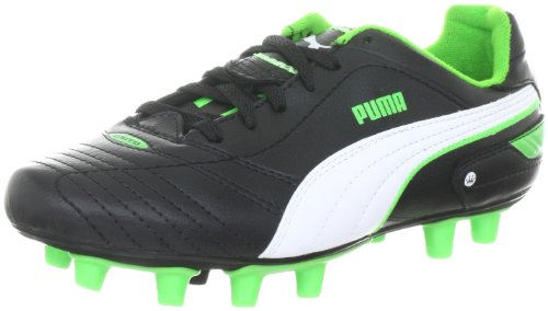 Puma Esito definitiva i fg jr 102014 Unisex zapatos de los deportes fútbol infantil Negro (Schwarz (Black-White-Fluro Green 08))
