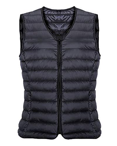 Noir Homme Doudoune Collier Manche Manteau Sans Avec Matelassé Quge Epais Tz7xH6x