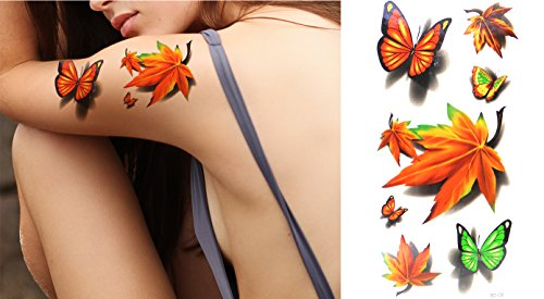beautiful-cute-sexy-body-art-butterfly-leaf-waterproof-temporary-tattoo-stickers-6-pcs