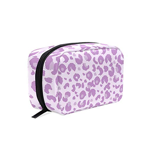 Lavender Leopard - Makeup Bag Toiletry Bag Cosmetic Bags Lavender Leopard Storage Bag for Women Skincare Cosmetic Pouch