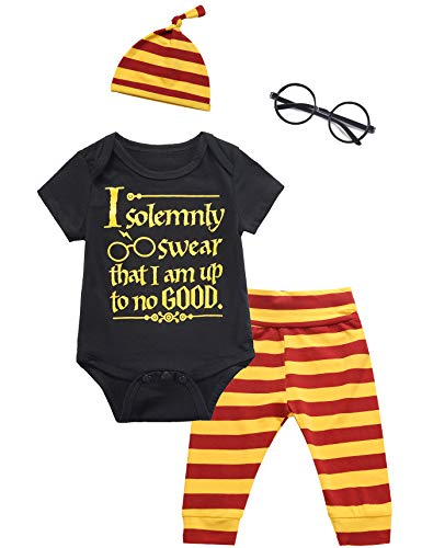 Baby Boys Girls Infant Outfit Set Layette Magician Funny Bodysuit Pants with Hat (0-3 Months) Black (The Best Magician Ever)
