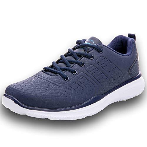 Ax Boxing Herren Sportschuhe Laufschuhe Sneaker Atmungsaktiv Leichte Wanderschuhe Trainers Schuhe A8064-blau