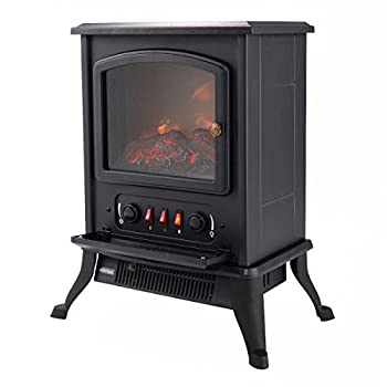 Giantex 1000W Fireplace Metal Electric Quartz Tube Heater Fire Flame Stove Adjustaable