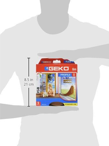 Geko 940009 T/ürdichtung//FensterdichtungI-Profil-Selbstklebende zuschneidbare Dichtung f/ür T/üren und Fenster B x H: 9 x 3 mm L: 6 m braun Langlebig- 5 Jahr