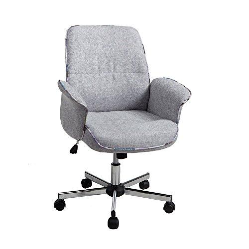 WV LeisureMaster Office Chair Premium Quality Cozy Grey Fabr