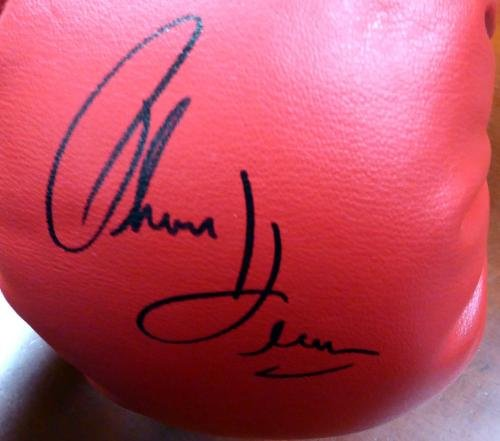Boxing Greats Autographed Glove 3 Sigs Leonard, Hearns & Duran Lh 113694 PSA/DNA Certified Autographed Boxing Gloves