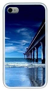 bridge pier columns TPU White Case for iphone 4S/4