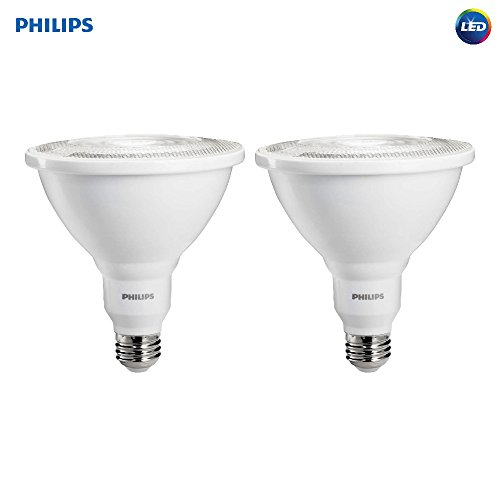 Philips LED Dimmable PAR38 35-Degree Light Bulb: 1200-Lumen, 5000-Kelvin, 12-Watt (100-Watt Equivalent), E26 Base, Daylight, 2-Pack