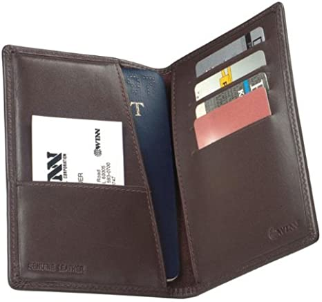 Emblem Cowhide Nappa Leather Deluxe Passport Case II Color Red No With U.S