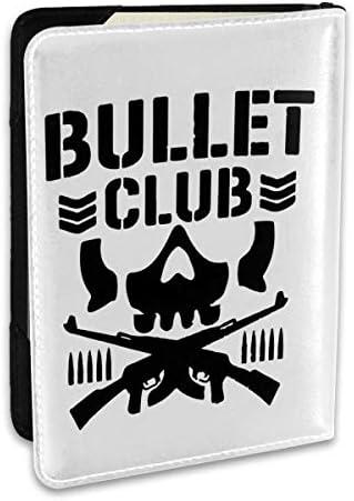 Bullet Club 新日本プロレスリング パスポートケース パスポートカバー メンズ レディース パスポートバッグ ポーチ 収納カバー PUレザー 多機能収納ポケット 収納抜群 携帯便利 海外旅行 出張 クレジットカード 大容量