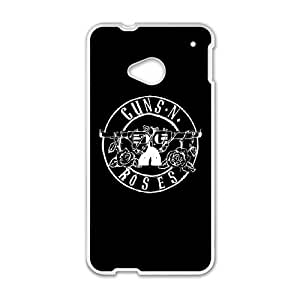HTC One M7 Phone Case for Classic Band GUNS N' ROSES theme pattern design GCBGNRS904663