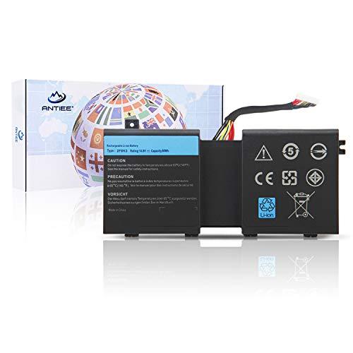 - ANTIEE New 14.8V 2F8K3 Laptop Battery for Dell Alienware 17 R1 17X M17X-R5 18 R1 18X M18X-R3 Series Notebook 02F8K3 0KJ2PX KJ2PX G33TT 0G33TT 0NU209 451-BBCB 86Wh 5700mAh