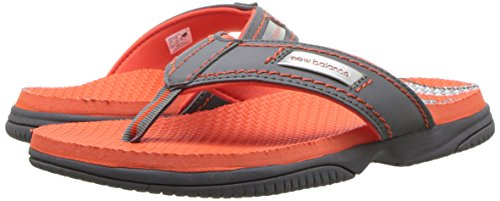 New Balance Unisex-Kids Mojo Thong Flip-Flop, Grey/Orange, P13 M US Little Kid by New Balance (Image #5)