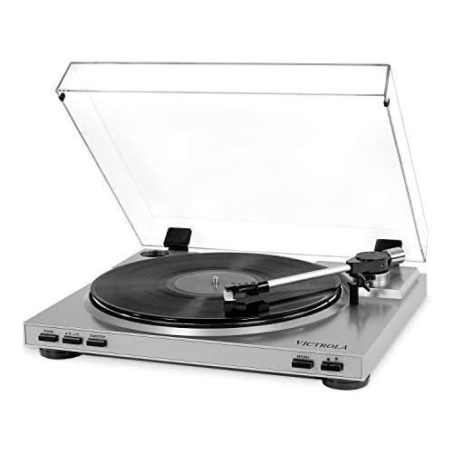chollos oferta descuentos barato Victrola Pro Tocadiscos Automatico USB Conversiòn de Vinilo a MP3 Plata
