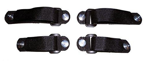 No Tie Shoe Laces – Replace-A-Lace, Hook & Loop Straps for Shoes (Medium, Black)