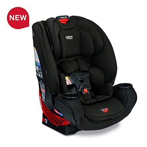 Britax One4Life ClickTight All-In-One Car Seat – 10 Years of Use – Infant, Convertible, Booster – 5 to 120 pounds – SafeWash Fabric, Eclipse Black