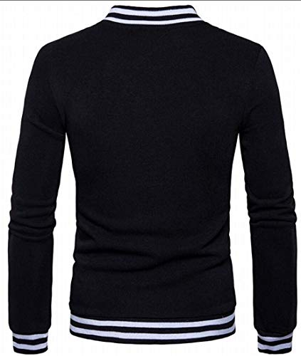 Kangqi Vestes Longues Baseball Taille Pour Manches Us Hommes small À De Vêtements Black couleur X qtrR8t