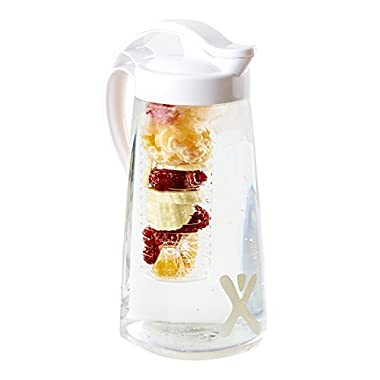 1 x Excifit Premium Fruit Infusion Pitcher (70oz) + 1 x Fruit Infused Water Bottle (26oz) + BONUS Paperback Recipe Book
