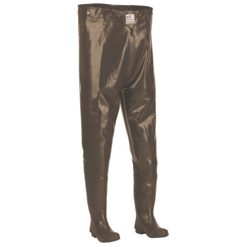 Wader Suspenders Hodgman (Hodgman CSTRCHTCLTSZ8 Caster Rubber Chest Hip Wader with Cleated Sole, Brown, Size-8)