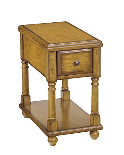 Solid Oak Bedside Table (Ashley Furniture Signature Design - Breegin Chairside End Table - 1 Drawer - Contemporary - Brown)
