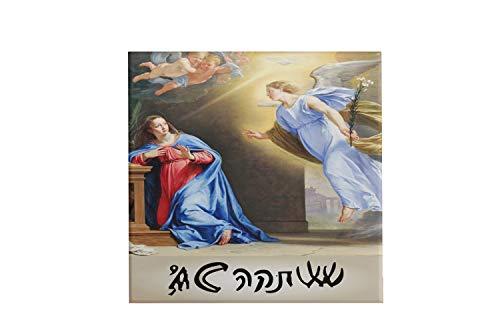 Quadro Azulejo Arcanjo Gabriel Assinatura