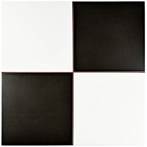 SomerTile FPECKR Noire Ceramic Floor and Wall Tile, 17.625