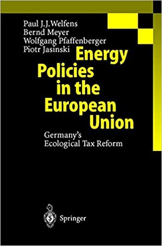 Book Energy Policies in the European Union: Germany's Ecological Tax Reform