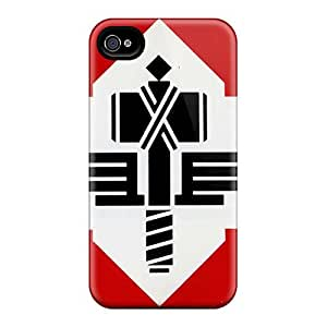 LauraFuchs Apple Iphone 4/4s Shock Absorbent Hard Phone Covers Unique Design Attractive Manowar Band Skin [yGT10311ebwE]