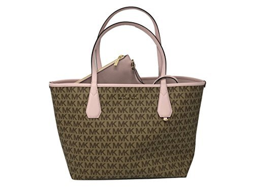 arge Signature PVC Reversible Tote Bag in Beige/ Ebony/Blossom (Signature Large Tote)