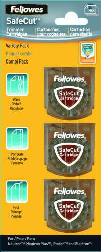Fellowes SafeCut Rotary Trimmer Blade Kit, Assorted, 3 Pack (5411302) - Neutron Plus Trimmer