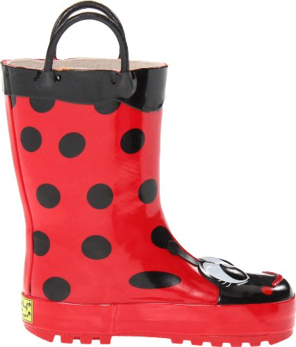 Western Chief Girls Waterproof Printed Rain Boot with Easy Pull on Handles, Lucy the Ladybug, 11 M US Little Kid by Western Chief (Image #6)