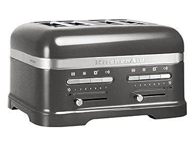 KitchenAid – 5KMT4205EMS – Grille-pains, 2500 watts, médaillon argent